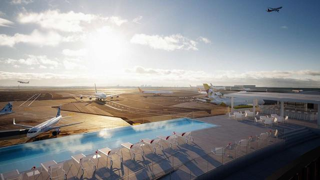 This Rooftop Infinity Pool Overlooks New York's JFK Airport Runway