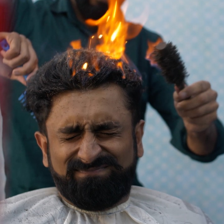 This Barber Sets Your Hair On Fire For Styling