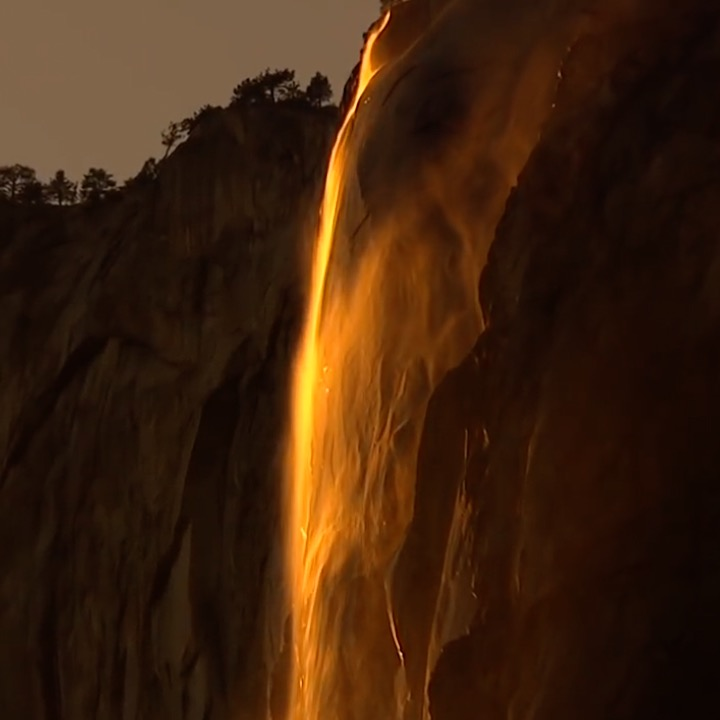 This Amazing California 'Firefall' Can Be Found Nowhere Else In The World