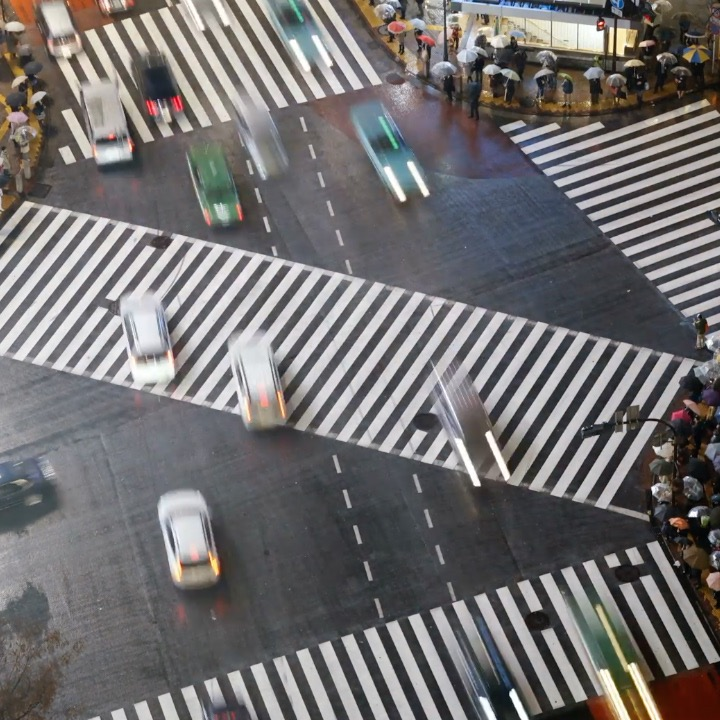 This intersection in Japan is straight out of video games