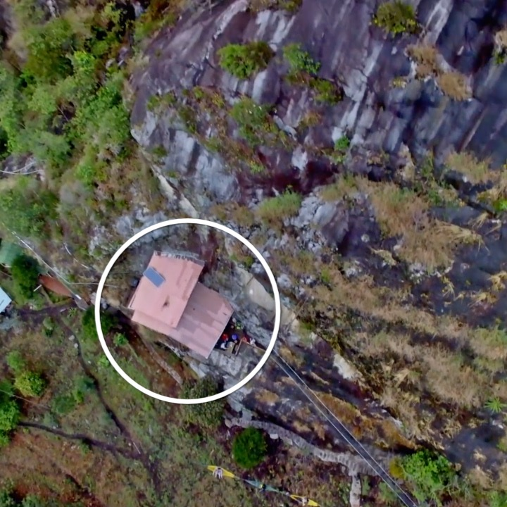 This cliff-side hotel has no roads