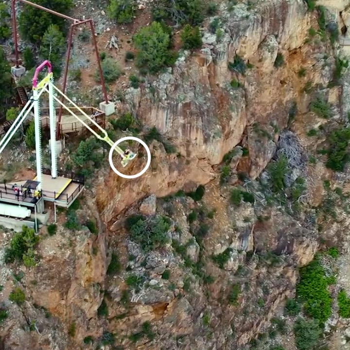 Would you go on this scary swing?