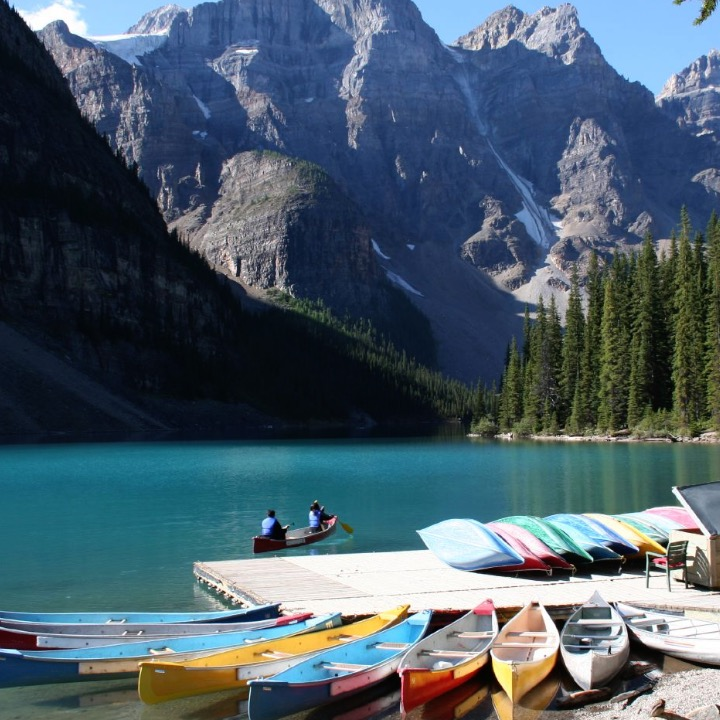 The lake with the bluest water