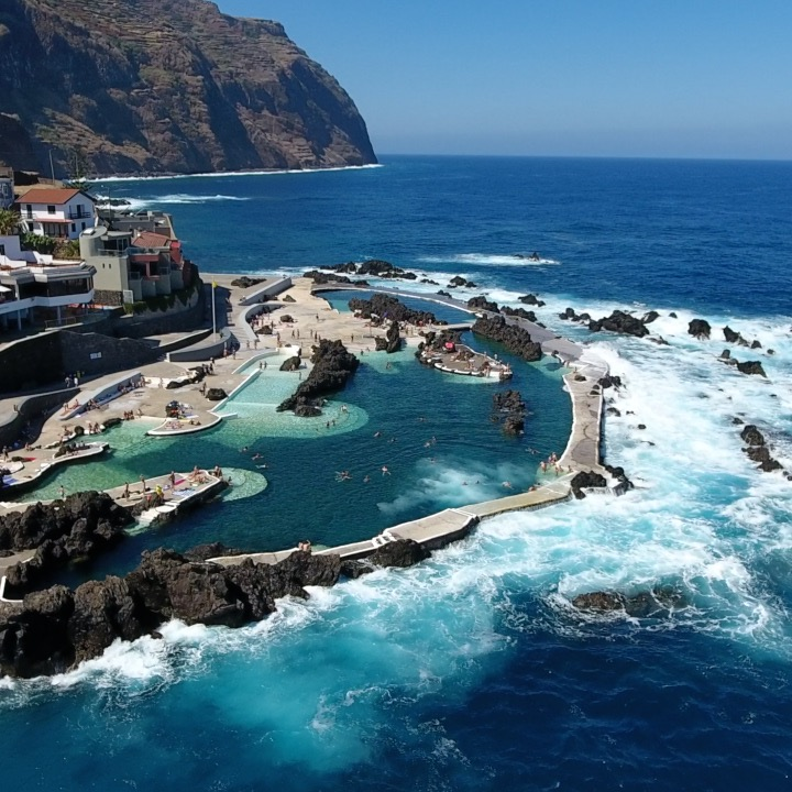 The world's most beautiful pool was carved by lava