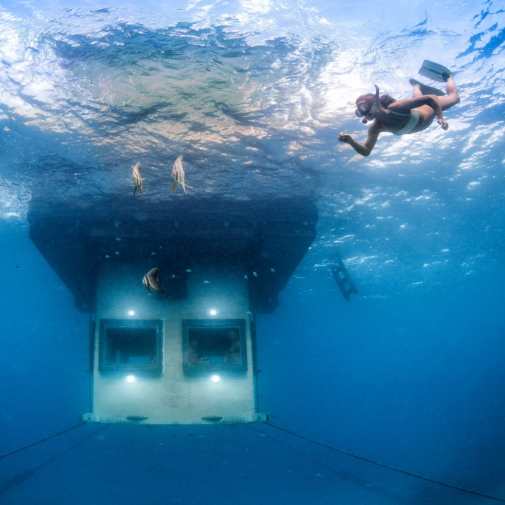 This floating underwater hotel room is what dreams are made of