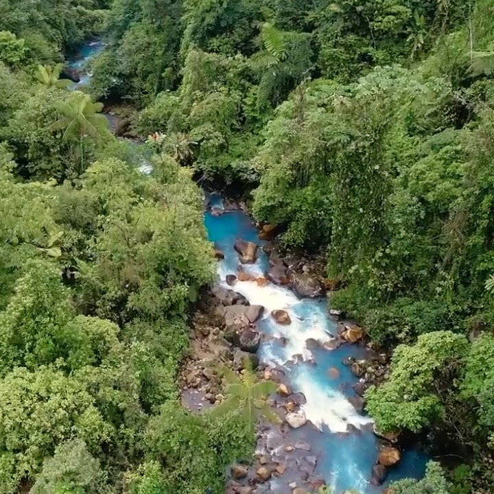 No seriously, this is a real river in Costa Rica