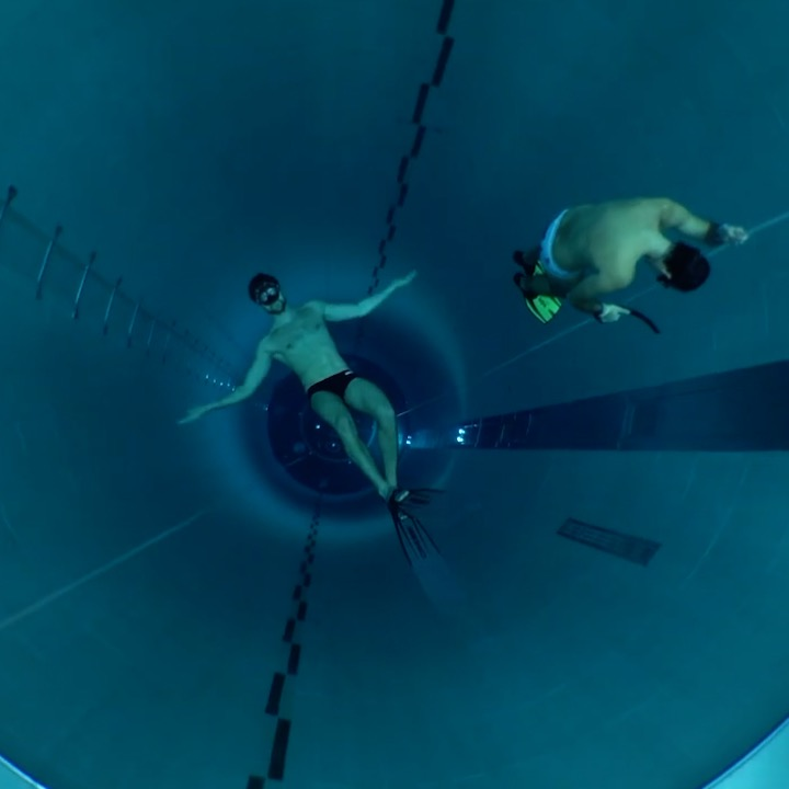 Go inside the world's deepest swimming pool