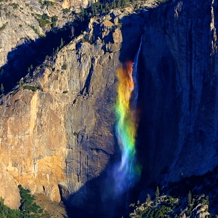 This 'Skittles' waterfall can be found in Caliornia